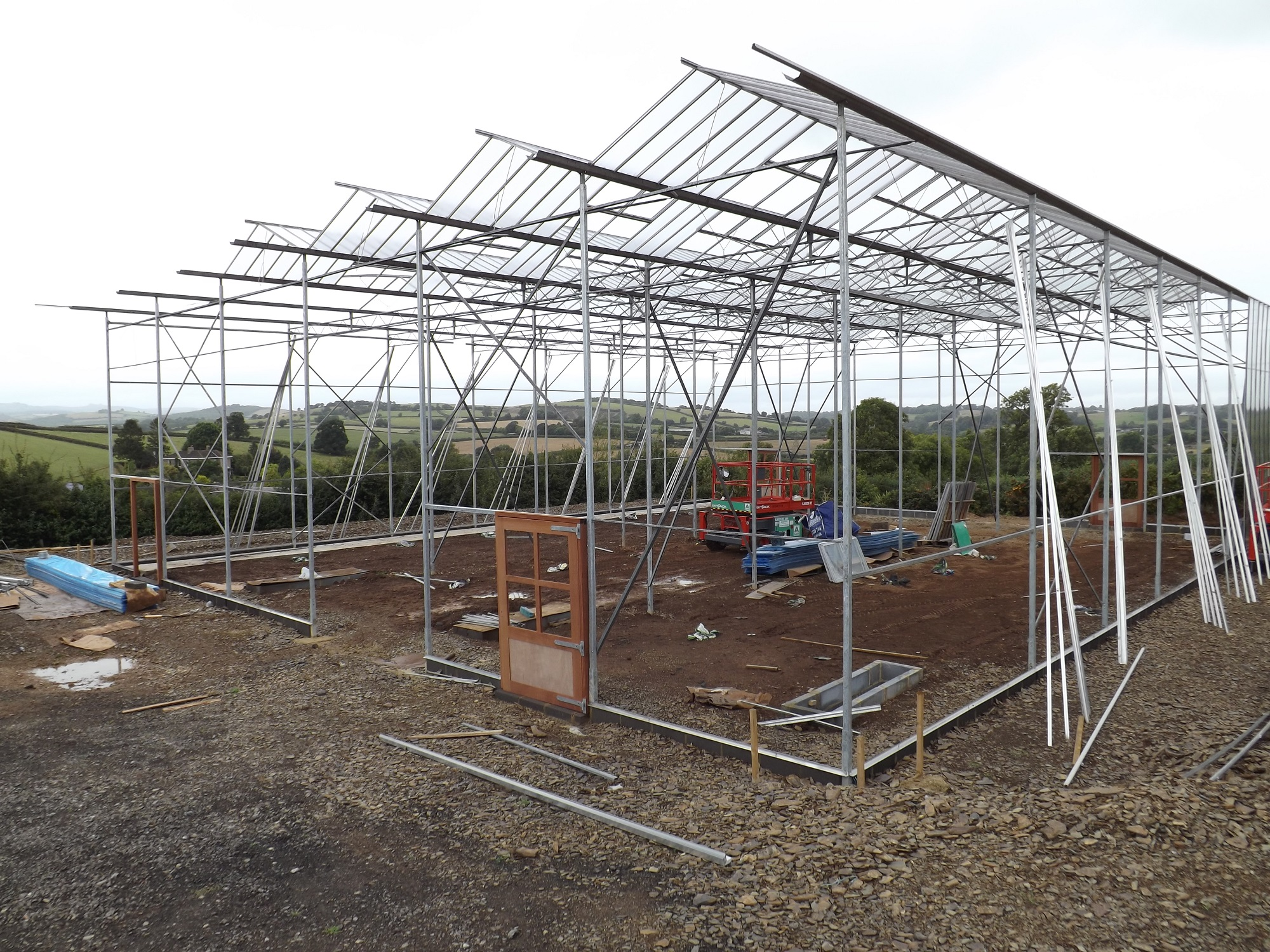 Forest Garden Greenhouse Construction – The Agroforestry Research Trust